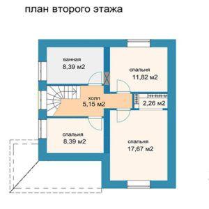 Проект коттеджа АМ-120