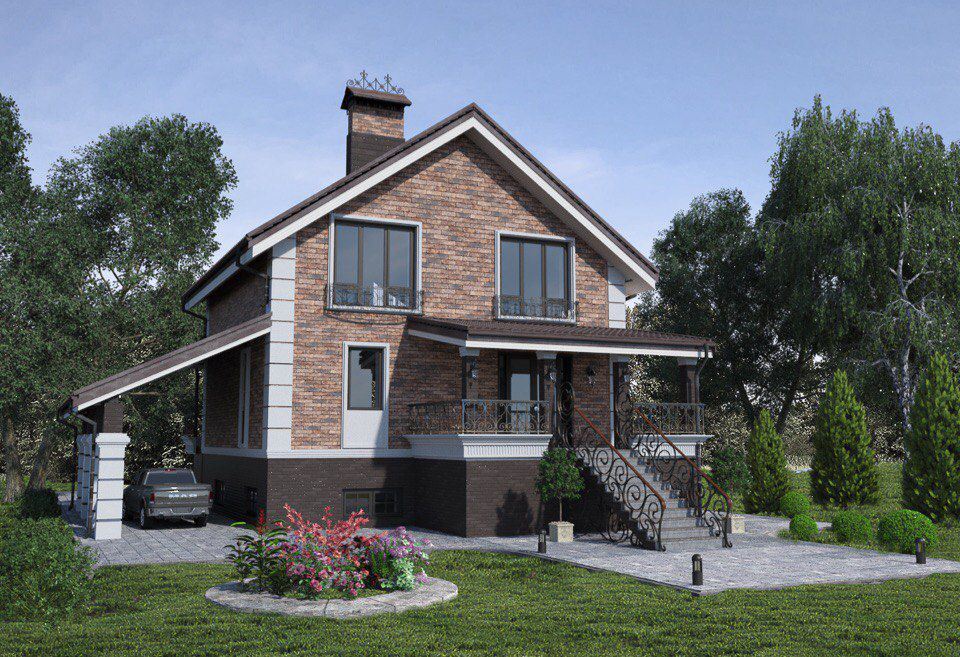 Проектирование дома Мечты по фото. На готовый фундамент